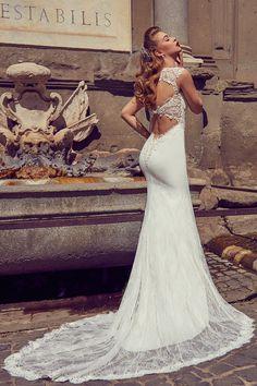 AdoraSposa 2017  Roma Collection #bridal #wedding #weddingdress #weddinggown #bridalgown #dreamgown #dreamdress #engaged #blush #romantic #inspiration #bridalinspiration #train #princess #weddinginspiration #adorasposa #weddingdresse Bridal Gowns, Wedding Gowns, Dream Dress, Wedding Inspiration, Wedding Photography, Romantic, Princess, Lace, Blush