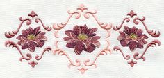 Dahlia Trio Embroidered Terry Kitchen by www.forgetmeknottreasure.etsy.com