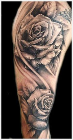 While most people do not apprehend how authoritative rose tattoos can be, rose tattoo designs are actually the most celebrated among teens. Rose flowers are not as feminine as most people might think. Rose is… Tattoo Arm Frau Rosen, Rosen Tattoo Mann, Rosen Tattoos, Rose Tattoos For Men, Tattoos For Women, Tattoos For Guys, Mens Tattoos, Black And Grey Tattoos For Men, Black And White Rose Tattoo