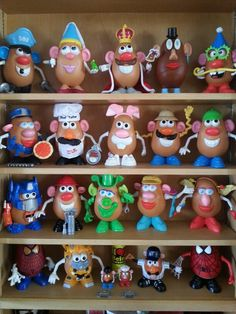 Some of my Mr.Potatohead collection.