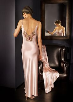 Satin Pink long nightgown | Flickr - Photo Sharing!