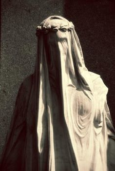 Another view - Beautiful cemetery statue