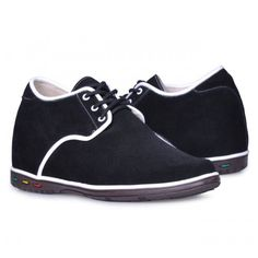 Men Casual Shoes - Black men elevator casual shoes become taller 7cm / 2.75inches with the SKU: MENJGL_1206_2 at Tooutshoes online store