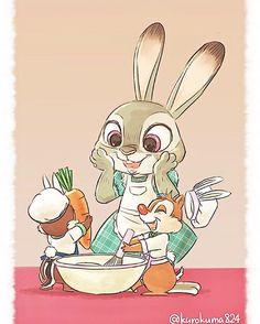(Instagram) kurokuma824 これから、ジュディのだぁい好きなにんじんケーキを作りまーす!