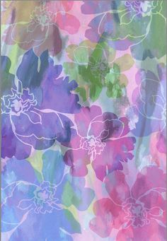Floral Textile Design by Pamela Gatens www.pamelagatens.com