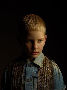 Portraits of children. Brilliant chiaroscuro!! Makes me think of Caravaggio and Rembrandt. Achim Lippoth - Fashion portraits by EW agency, via Behance