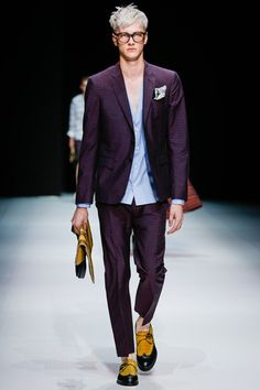 Andrea Pompilio Spring 2014 Menswear Collection Slideshow on Style.com