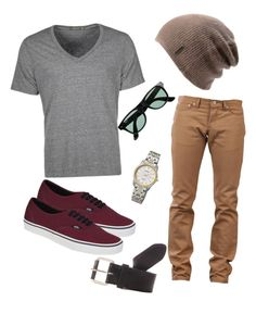 Casual guy skater outfit by dreamcatcher52 on Polyvore featuring Vans, Seiko, Spacecraft, Alternative, Naked & Famous, OBEY Clothing, J.Crew, vans and skater