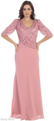 SALE !! PLUS SIZE MOTHER of BRIDE DRESS EVENING SPECIAL OCCASION GOWN UNDER $100