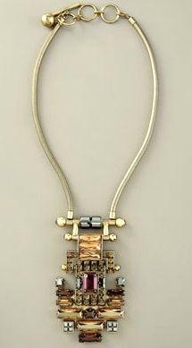Alber Elbaz for Lavin. Geometric Crystal Necklace
