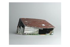 """Broken houses"", miniature houses by artist Ofra Lapid"