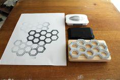 Ladyface Blog: DIY Honeycomb Stamp