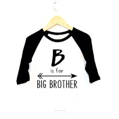 Expecting a little one and wanting to share the news with your family in a fun way? Look no further than our Big Brother tees! They are the perfect way to let your loved ones know that your little guy