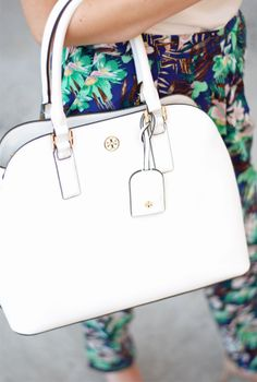 Now On Sale: Tory Burch Robinson Dome Satchel.