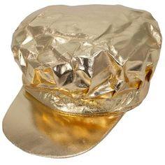 Newsboy Cap: Metallic Gold