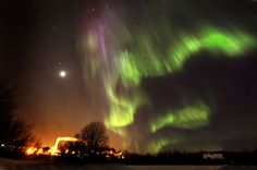 Northern lights filmed in Kajaani, 18.3.2013.