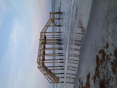 Folly Beach...following Hurricane Irene. Used to be huge dunes right here.