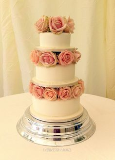 Wedding Cake - Rose Tiers by Cirencester Cupcakes, via Flickr