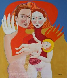 "Saatchi Art Artist Clare Galloway; Painting, ""THE NEW FAMILY"" #art"