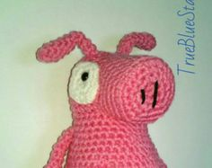 Peg + Cat Pig doll inspired by peg plus cat peg and cat crochet stuffed toy