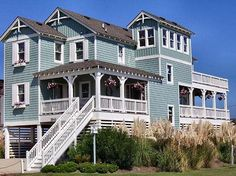 $3395* (inclusive)  JR369: Point of Views NC ( Ratings)  Bedrooms:5 Bedrooms  Bed Sizes:2 King / 1 Queen / 1 Double / 3 Twin  Bathrooms:4 full / 1 half  Type:House  Location:Nags Head  Area:Oceanside (160 yds)  Community:Old Nags Head Place  Address:3543 South Memorial Avenue  Nags Head, NC  Milepost:12  Check in Day:Saturday