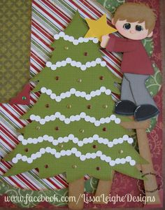 www.facebook.com/LissaLeigheDesigns Silhouette Cameo Scrappy Dew Christmas Layout Paper Piecing