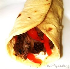 Quirky Cooking: Beef or Chicken Fajitas