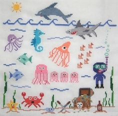 Under the Sea Cross Stitch Pattern by Theflossbox on Etsy, $4.00