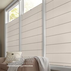 Good Housekeeping™ Roman Shade: Solarscreen 5%