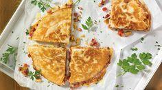 Quésadillas au thon blanc et au piment jalapeno
