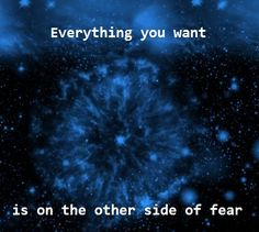 Everything you want is on the other side of fear -Inspirational quotes www.TheTarotGuide.com! #inspirationalquotes #quote #overcomingfearquotes