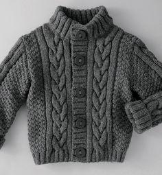 Modèle blouson uni garçon - Modèles Enfant - Phildar ........ so warm with the wool weight and the high neck! Phildar