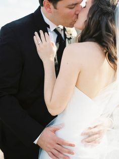 Kisses! http://www.stylemepretty.com/texas-weddings/2015/06/09/elegant-texas-ranch-wedding/ | Photography: Nicole Berrett - http://www.berrettphotography.com/