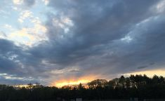 """My photo - Amherst, NH sunset -inspiration for """"Solstice Sunset"""" 30 x Oils on canvas. Peterborough, Oil On Canvas, My Photos, Clouds, Fine Art, Sunset, Painting, Outdoor, Inspiration"""