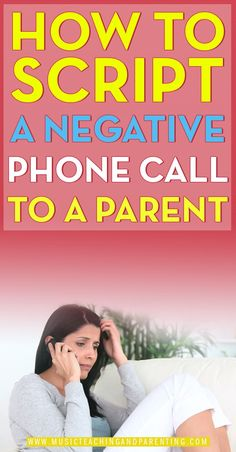 Very helpful tips for scripting a phone call to a parent after a negative behavior. Good article to keep around for the school year.
