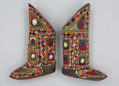 Non-Western Historical Fashion - Object Name: Boot Place Made: Asia: Central Asia,...
