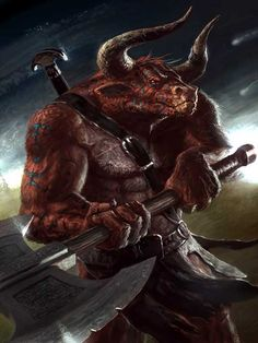 hours) My Products: Creature Collection 1 and plus RPG Creatures - Bestiary 1 Minotaur Fantasy Races, Fantasy Warrior, Fantasy Rpg, Fantasy World, Mythological Creatures, Fantasy Creatures, Mythical Creatures, Character Portraits, Character Art
