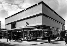 Galeries Modernes (1957) in Rotterdam, the Netherlands, by Van den Broek & Bakema