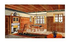 An English Arts & Crafts living room 1912