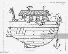 Image result for blueprint noahs ark ark pinterest image result for noahs ark illustration malvernweather Image collections