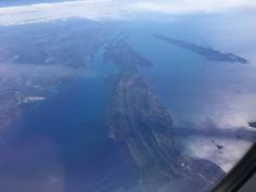 Croatian islands view from airplane