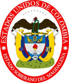 Historic Coat of Arms of the Sovereign State of Magdalena, 1863-1886 (Colombia)