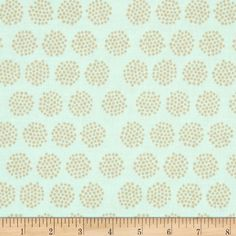 Riley Blake Good Natured Fireflies Mint from @fabricdotcom  Designed by Marin Sutton for Riley Blake, this cotton print is perfect for quilting, apparel and home decor accents.  Colors include mint and tan.