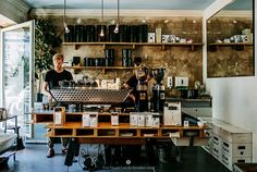 """Bonanza Coffee Heroes in Berlin Prenzlauer Berg - Without question, one of the best cups of coffee in Berlin. The """"flat white"""" is a popular favorite, so drink one, but also make sure you have the guys fresh-grind some beans to take home."""