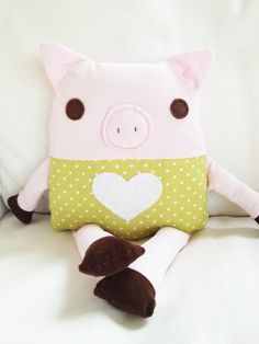 Toy Pig Sewing Pattern - Pig Doll Softie Sewing Pattern