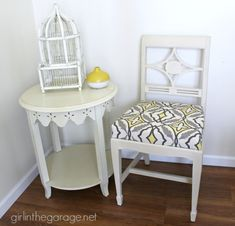 DIY: Vintage Chair Makeover with Chalk Paint.  girlinthegarage.net