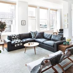 Light filled living rooms are a blessing. Especially in NYC...it's not as common here for most people. Love this place 📷 via @businessinsider