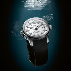 SIGNS OF LIGHT FROM THE DEEP IWC Aquatimer Automatic (See more at En/Fr/Es: http://watchmobile7.com/articles/iwc-aquatimer-automatic) (1/4) #watches #iwc @Sarah Kozich World Watches