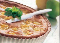 Pæretærte med bagt marcipan creme - perfekt gæstekage opskrift