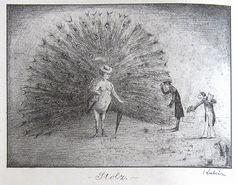 Alfred Kubin, 'Vanidad', pluma y tinta sobre papel, 1899. Austria / arte